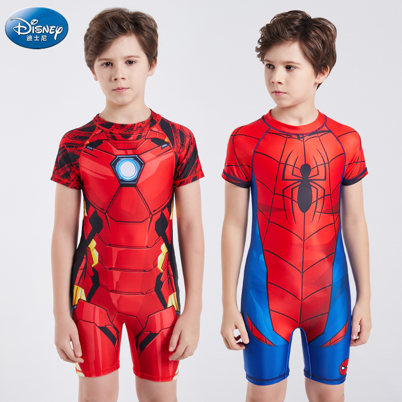 Disneyland children's swimsuits children's sun protection one piece swimsuit baby quick drying spider man hot spring swimsuit
