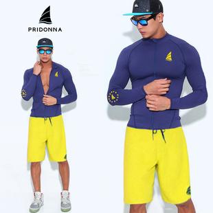 新款韩版潜水服男户外拉链滑水分体紧身长袖冲浪服防晒浮潜水母衣