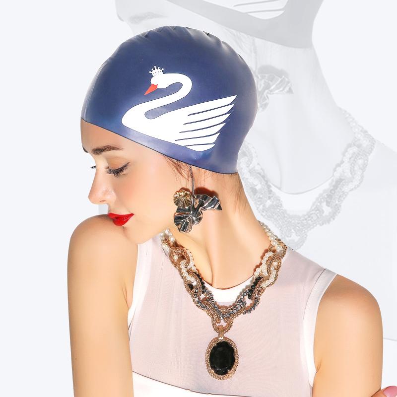 PRIDONNA谱多娜19新款硅胶泳帽女专业长发护耳防水大号成人游泳帽