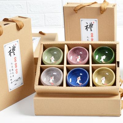 Teacup ice cracked glaze gift box 10-20 yuan