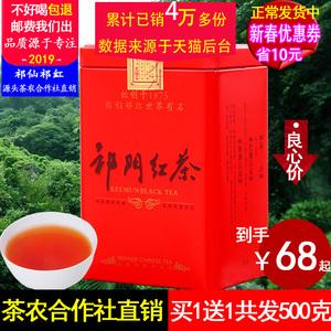 买1送1共发500克 祁门红茶散装果蜜香高山祁红香螺旗舰2019新茶叶