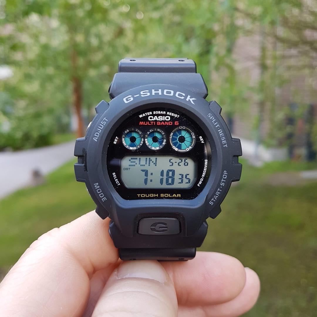 Casio/卡西欧三眼手表男GW6900六局电波太阳能手表GW-6900-1