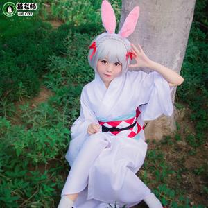 猫老师阴阳师COS服装全套动漫式神山兔cosplay和服浴衣男女装假发