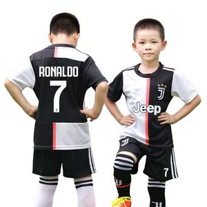儿童足球服套装男球衣巴萨梅西7号C罗切尔西学生队服男童训练服