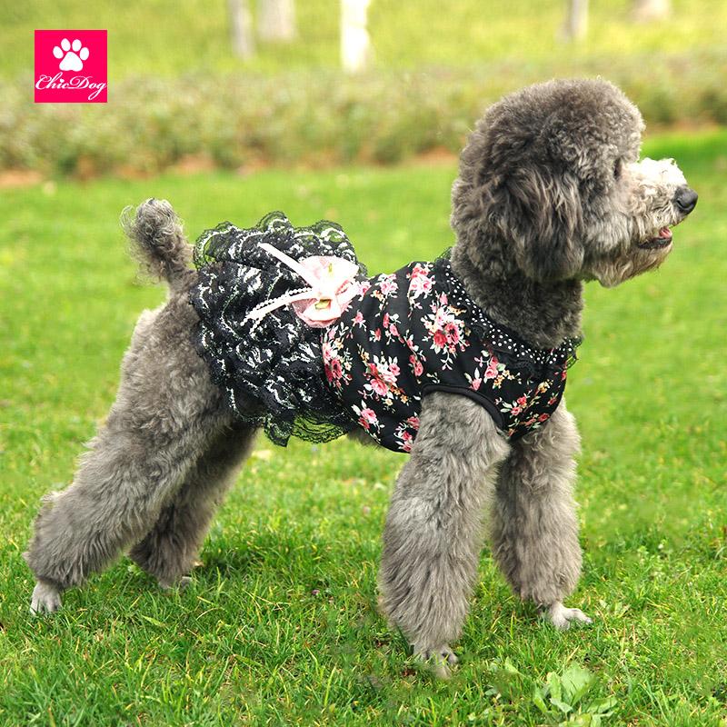 狗狗衣服夏寵物服裝吉娃娃博美比熊泰迪小狗的裙子連衣裙26省包郵
