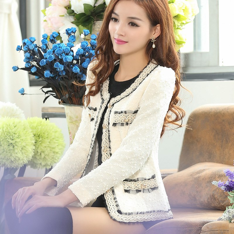 2019 spring and autumn new fashion Blazer coat Long Sleeve slim fit short coat womens xiaoxiangfeng womens coat