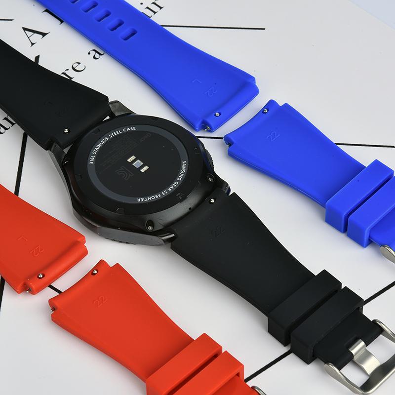 适用华米amazfit1/2代手表运动硅胶表带三星GearS3华为watch2p(用1元券)