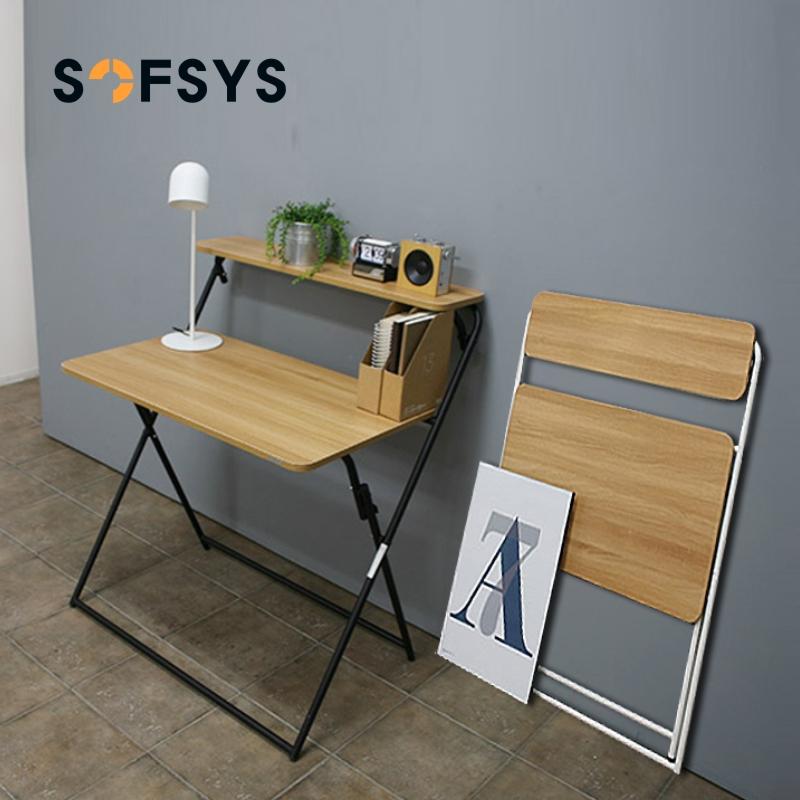 SOFSYS折叠桌书桌便携简易办公桌家用学习写字台小桌子折叠电脑桌