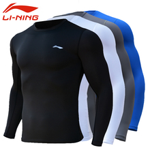 Li Ning Fitness Clothes Tightness Clothes Men's Sports Long Sleeve Fitness Training