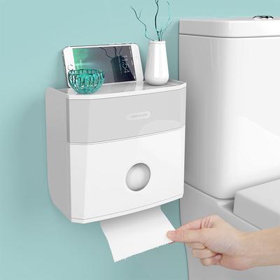 衛生紙盒衛生間紙巾廁紙置物架廁所家用免打孔創意防水抽紙卷紙筒
