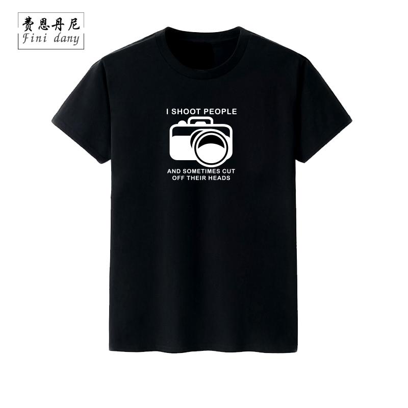 I SHOOT PEOPLE 摄影师摄像师短袖t恤数码单反相机光圈半袖体恤