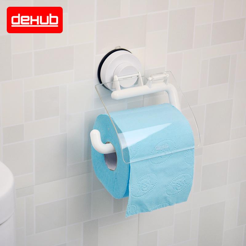 韓國DeHUB吸盤衛生間紙巾架 防水卷紙器 手紙廁紙架衛生紙巾盒