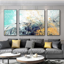 Sofa Background Wall Living Room Decorative Painting Modern Simple Triple Painting Nordic Hanging Painting Abstract Oil Painting Atmospheric Fresco
