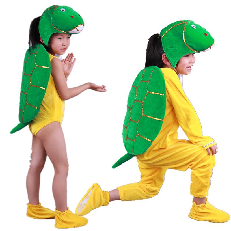儿童老鳖小乌龟表演服装 幼儿动物卡通演出服装 龟兔赛跑舞蹈服装