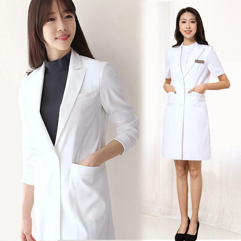 韩版白大褂医生服中长款长袖美容院制服牙医医疗整形医院工作服