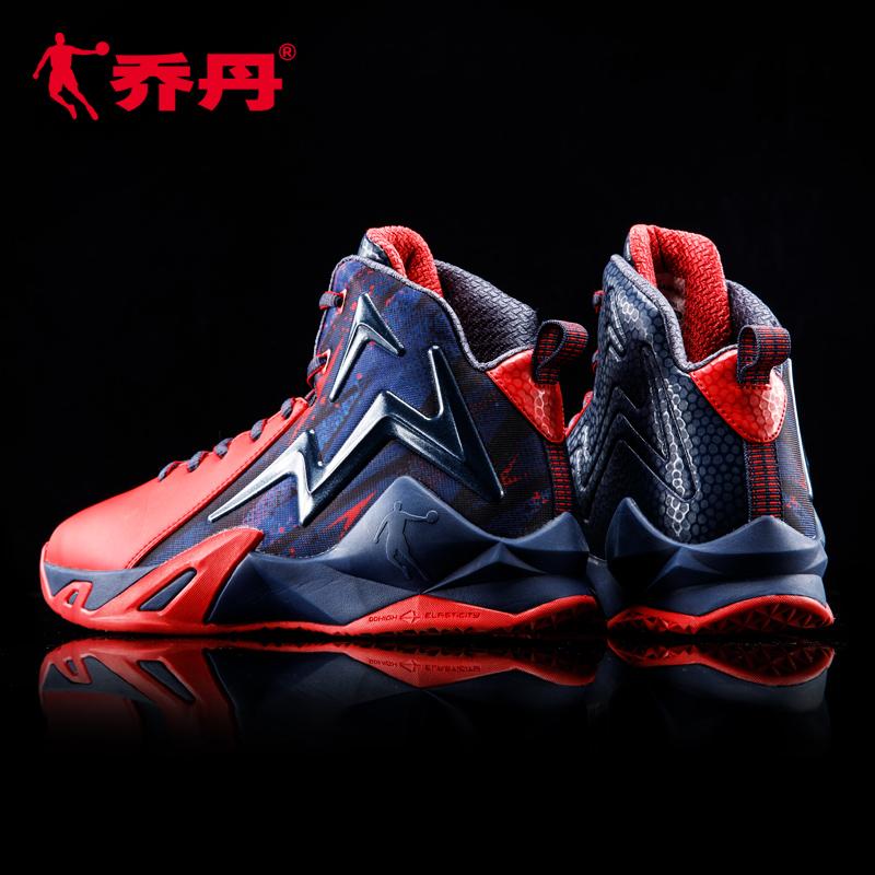 喬丹籃球鞋男鞋高幫詹姆斯15歐文5毒液7學生皮面冬季戰靴aj11紅色