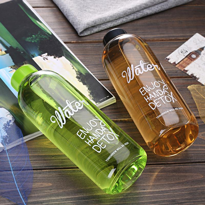簡趣大容量耐熱玻璃杯男士女士水杯 水瓶便攜杯子1000ml