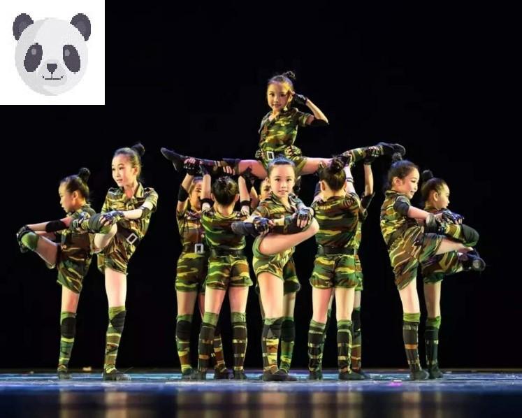 小荷风采幼儿小小兵儿童兵娃娃演出服军装迷彩服少儿舞蹈表演服装