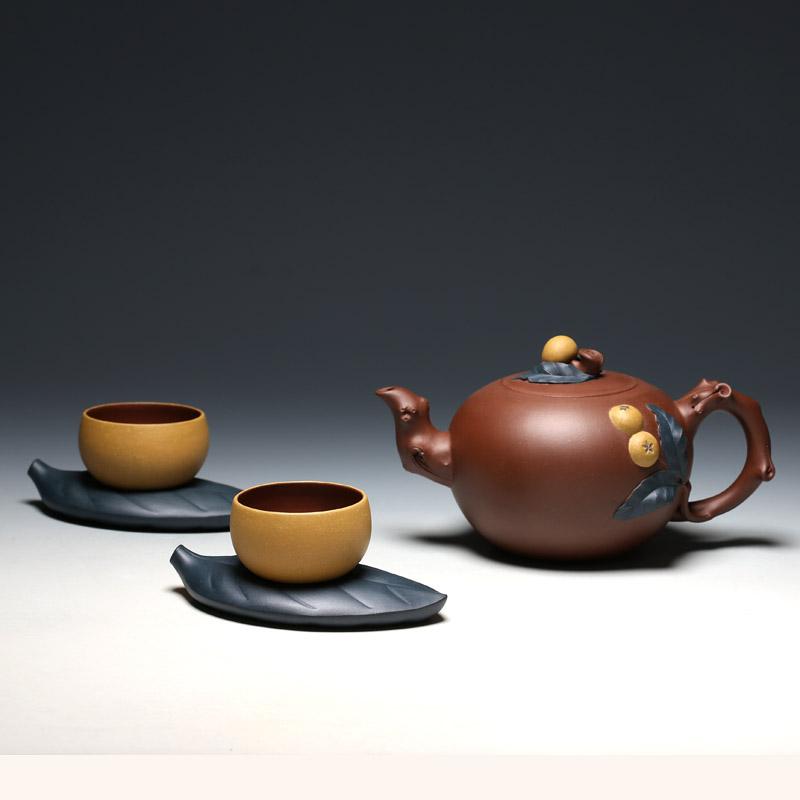 明理茶艺 宜兴紫砂壶 何挺初全手工 琵琶茶具 茶壶