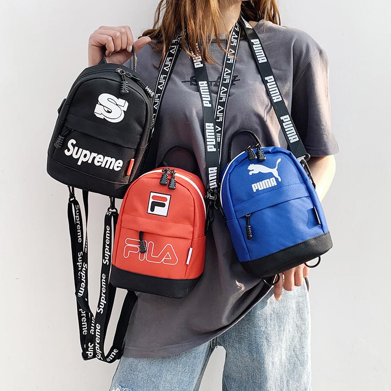 新品男女通用小包包韩版单肩斜跨手提包简约时尚百搭田园潮流女包