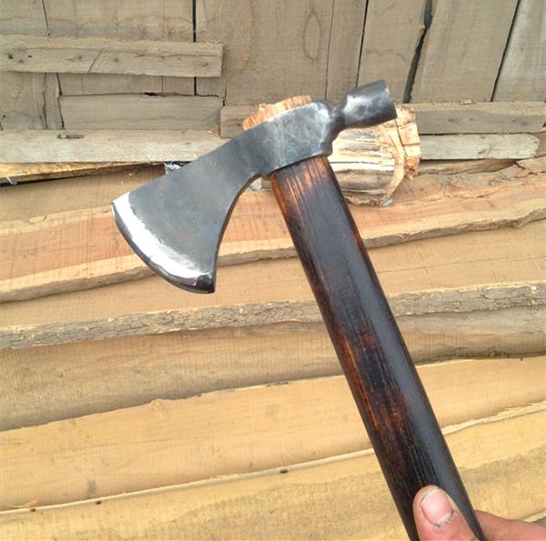 鹰钉斧 烟斗斧子 手工d2钢 维京战斧 60cm印第安战斧户外工具收藏