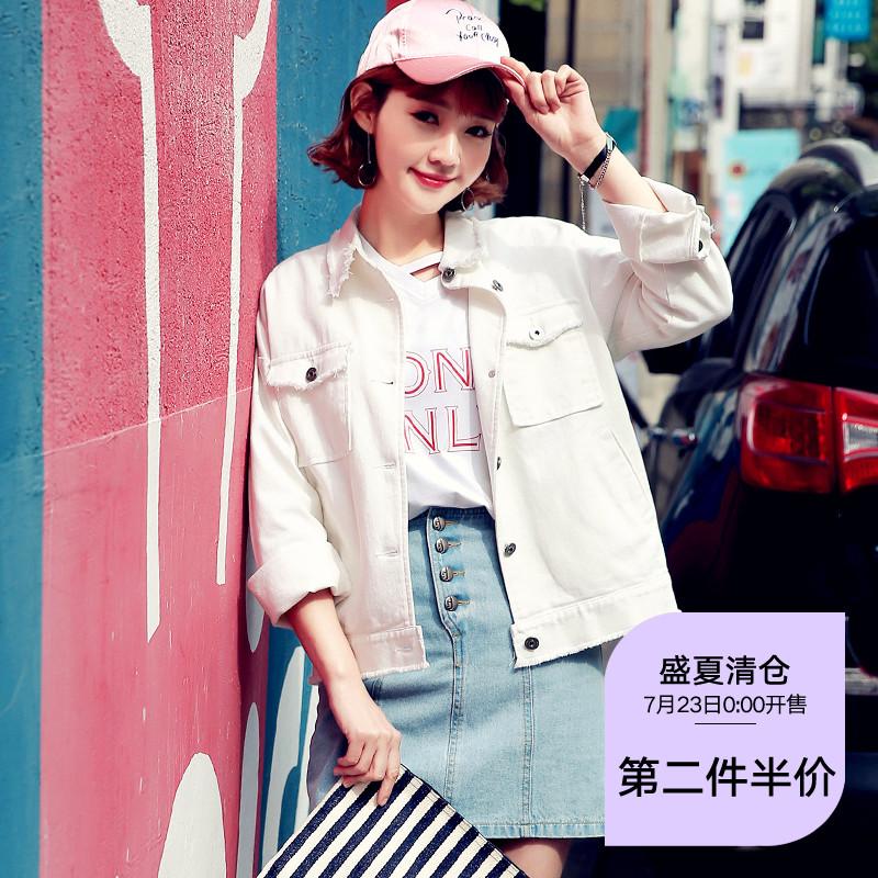 韩都衣舍2018韩版女装春装新款纯色宽松显瘦短外套OU6723��