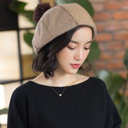 贝雷帽优雅休闲画家帽女帽子秋冬天时尚学生日系英伦欧美复古甜美