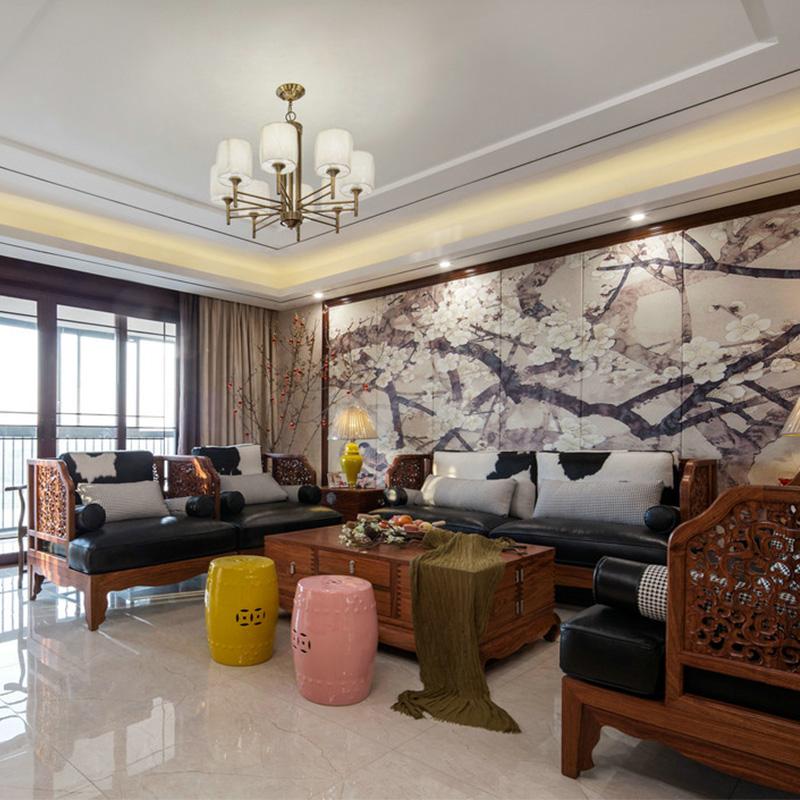 新中式实木沙发组合客厅现代简约样板房售楼处酒店别墅家具定制(用1元券)