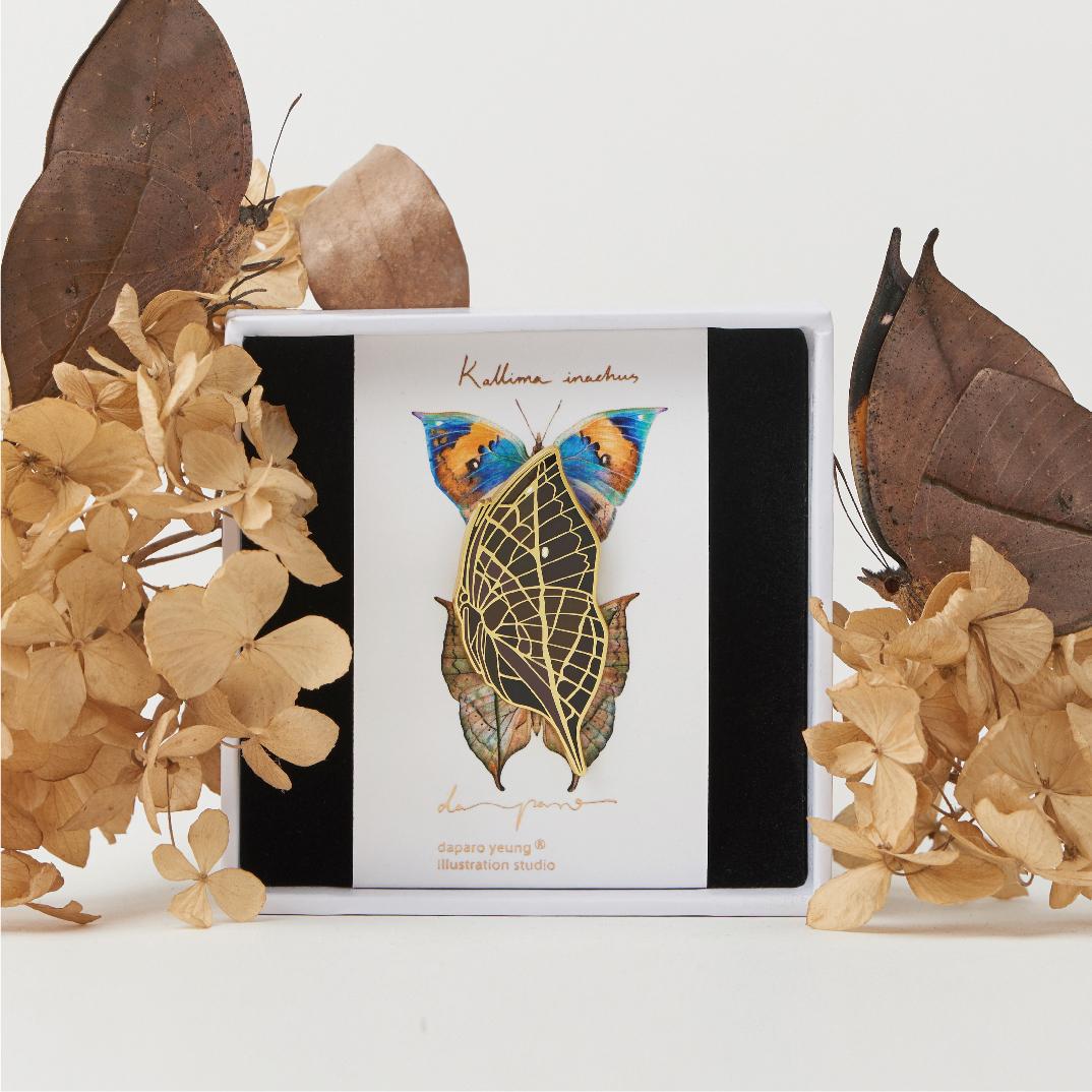设计师原创胸针徽章礼物荒野密林daparo枯叶蝶