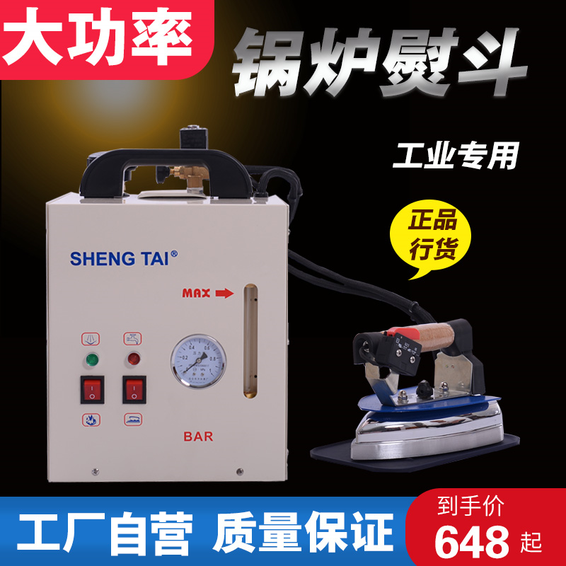 Industrial and household electric iron small pressure electric heating steam boiler iron electric iron with boiler