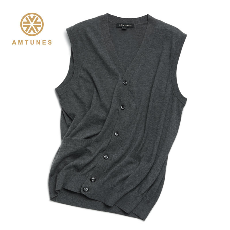 Rhyme song mens cashmere V-neck vest 100% Cashmere autumn and winter warm sleeveless vest c13048