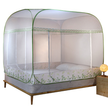 Mongolian yurt mosquito net household no installation foldable Princess wind 2 m bed 1.5/1.8 m bed double encryption tally