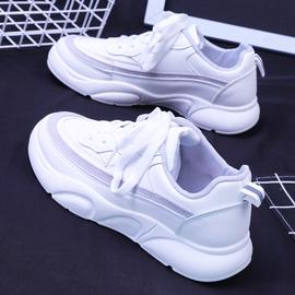 人本小白鞋女秋季2020新款网红厚底老爹鞋运动休闲时尚百搭板鞋子
