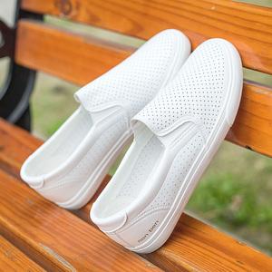 人本夏季一脚蹬懒人透气学生板鞋
