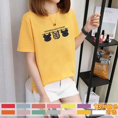 3535#(实拍1)2018夏装新款短袖t恤女(13色)40支6535精梳棉