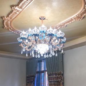 欧式奢华大气法式陶瓷灯具客厅灯