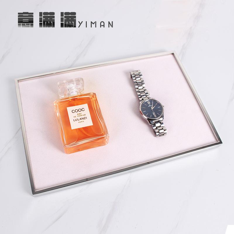 Jewelry jewelry display tray Necklace stationery ornaments storage box soft display rack flannelette watch props