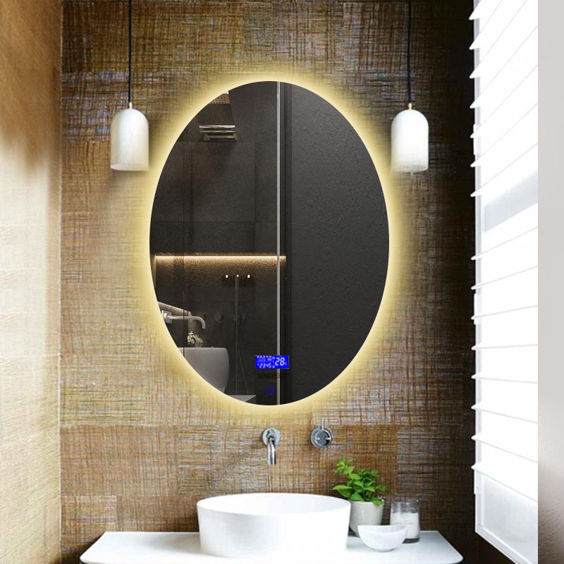 智能镜子led化妆镜椭圆防雾卫生间镜子壁挂洗手间带灯欧式浴室镜