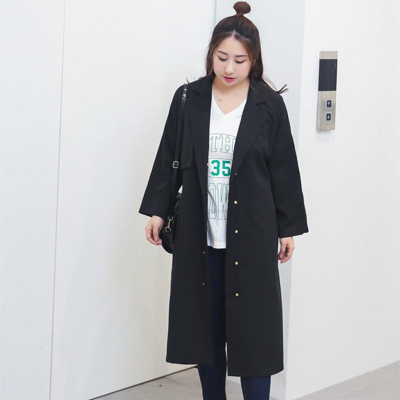 胸围130胖子秋装风衣超大码女装150 160 180 200斤中年肥胖MM外套