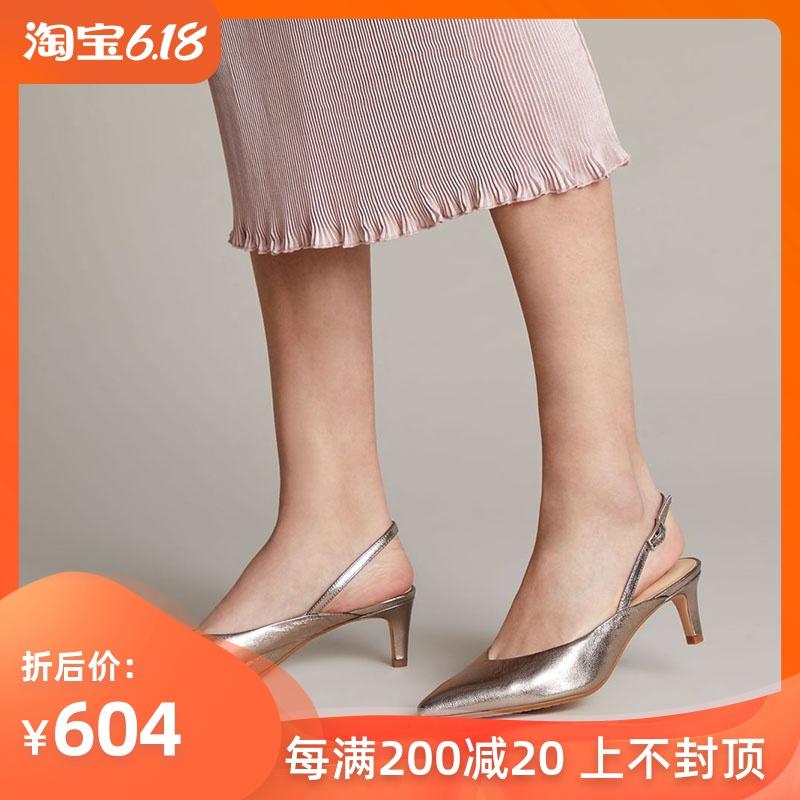 正品Clarks其乐女鞋高跟尖头时尚2020春季新款代购Laina55 Sling