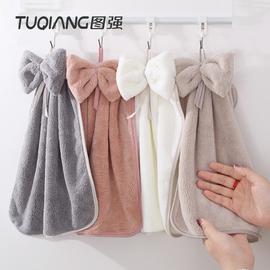 图强3条可爱挂式擦手巾韩国强吸水家用厨房毛巾卫生间挂巾手帕