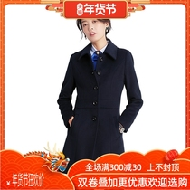Thickened occupation woolen coat men and women with the winter long section of wool construction work clothes jacket bank tooling