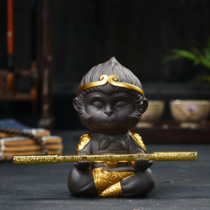 Ученый достигать фиолетовый грязь чай портить вместе день большой святой укун обезьяна чай играть украшение может поддержка усилие чайная церемония автомобиль керамика украшение