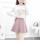 蝴蝶毛衣+粉裙