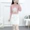 粉衣+白裙