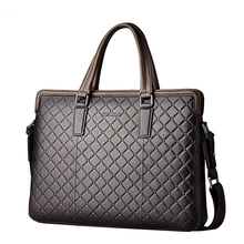 Seven wolf men's bag leather handbag business Computer Briefcase head layer cowhide Crossbody large capacity men's bag