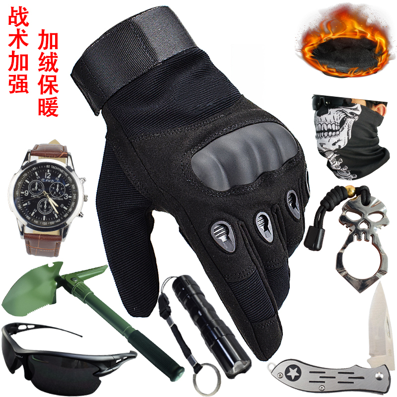 All finger tactical gloves mens Half Finger special forces gloves outdoor training mountaineering cycling Motorcycle Gloves Winter