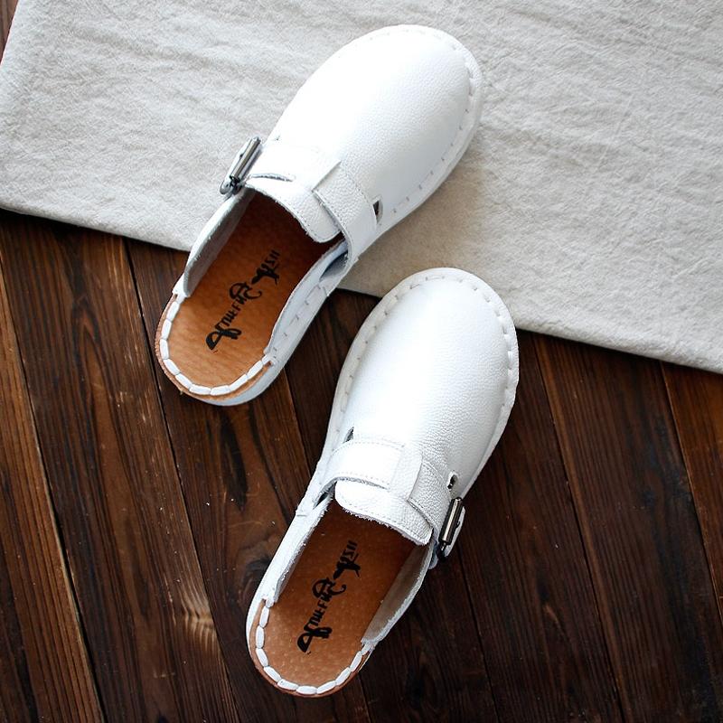 春夏真皮百搭韩文艺简约舒适凉拖鞋热销0件限时2件3折