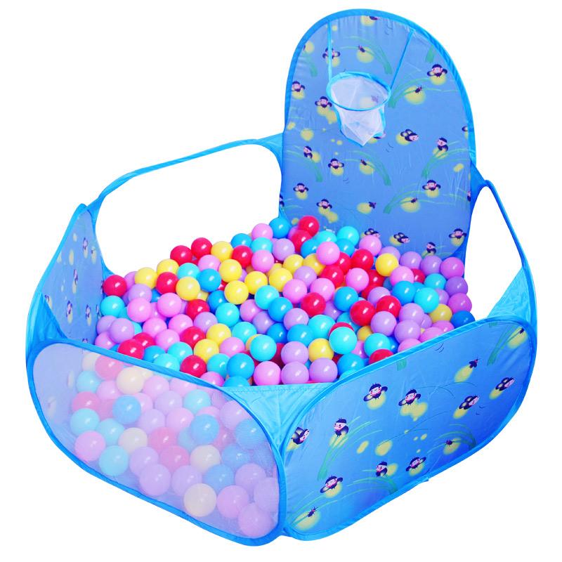 兒童海洋球池波波池帳篷遊戲屋可折疊室內卡通投籃球池小孩玩具池