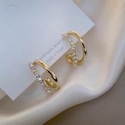 半圈耳环纯银银针耳圈耳饰韩国东大门网红同款2020新款潮气质耳钉